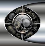 Fundo abstrato metálico Imagens de Stock