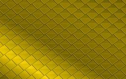 Fundo abstrato metálico dourado dos triângulos e dos quadrados Imagens de Stock Royalty Free