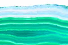 Fundo abstrato - mineral ciano da fatia da ágata imagens de stock royalty free