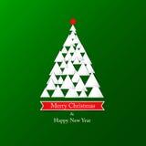 Fundo abstrato moderno da árvore de Natal Fotos de Stock Royalty Free