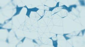 Fundo abstrato molecular do plexo da tecnologia futurista Laço sem emenda ilustração do vetor