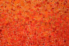 Fundo abstrato - mosaico alaranjado Foto de Stock Royalty Free