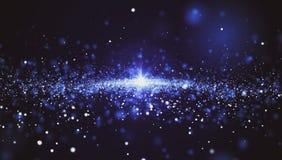 Fundo abstrato, muitas estrelas do espaço ilustração do vetor