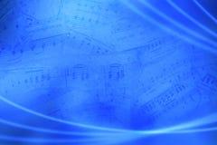 Fundo abstrato musical azul imagens de stock