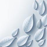 Fundo abstrato na moda com a folha 3d cinzenta ilustração stock