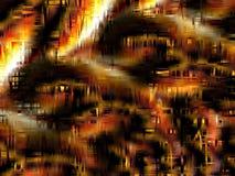 Fundo abstrato nas máscaras do ouro, da laranja, do branco, e do preto Imagens de Stock