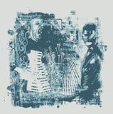 Fundo abstrato no estilo do grunge ilustração do vetor