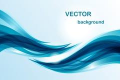Fundo abstrato - onda azul ilustração stock