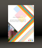Fundo abstrato para o folheto, tampa Molde para o cartaz Vetor Fotos de Stock