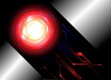 Fundo abstrato para o projeto alta tecnologia futurista Imagem de Stock