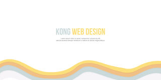 Fundo abstrato para o projeto da onda do Web site do encabeçamento Imagem de Stock