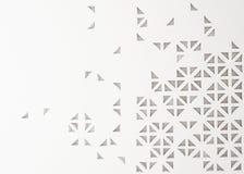fundo abstrato perfurado do triângulo 3d Fotos de Stock Royalty Free
