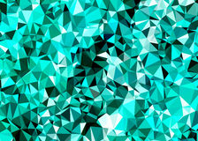 Fundo abstrato poligonal, baixo brilho poli Imagem de Stock