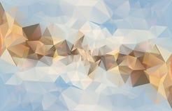 Fundo abstrato poligonal do vetor Fotografia de Stock