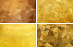 Fundo abstrato poligonal Quatro fundos Fotografia de Stock Royalty Free