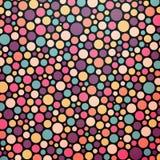 Fundo abstrato pontilhado colorido Imagens de Stock Royalty Free