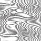Fundo abstrato preto e branco do vetor de ondas Imagem de Stock