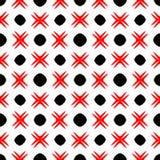 Fundo abstrato preto e vermelho ilustração do vetor