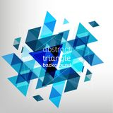 Fundo abstrato, projeto triangular Fotos de Stock Royalty Free