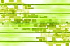 Fundo abstrato quadrado das linhas verdes Fotos de Stock