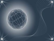 Fundo abstrato que olha como o globo Ilustração do Vetor