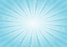 Fundo abstrato riscado Luz suave - fundo ciano dos raios do azul horizontal Vetor ilustração stock