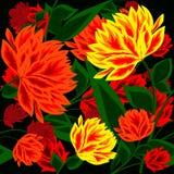 Fundo abstrato sem emenda com flores bonitas Imagem de Stock Royalty Free