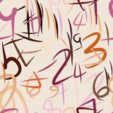 Fundo abstrato sem emenda com números Efeito, detalhes, projeto & educação ilustração royalty free