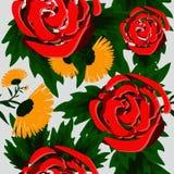 Fundo abstrato sem emenda com rosas bonitas Imagem de Stock