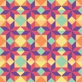 Fundo abstrato - teste padrão sem emenda geométrico do vetor Elemento do projeto Fotografia de Stock Royalty Free
