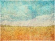 Fundo abstrato Textured desvanecido da paisagem Fotografia de Stock Royalty Free