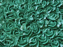 Fundo abstrato: Tiffany Blue Rosette Cake Icing imagens de stock royalty free