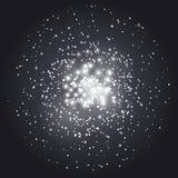 Fundo abstrato transparente da constelação ilustração royalty free