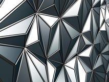 Fundo abstrato triangular industrial metálico preto ilustração royalty free