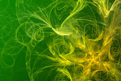 Fundo abstrato verde-amarelo Fotografia de Stock Royalty Free