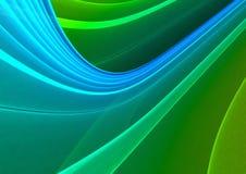 Fundo abstrato verde & azul Fotografia de Stock Royalty Free