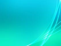 Fundo abstrato verde da curva Imagem de Stock
