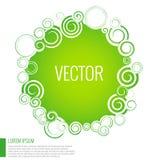 Fundo abstrato verde do círculo Imagem de Stock