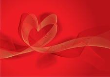 Fundo abstrato vermelho com coração Fotos de Stock Royalty Free