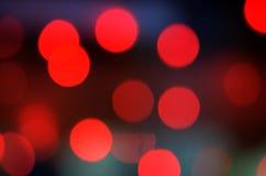 Fundo abstrato vermelho com luzes do bokeh foto de stock royalty free