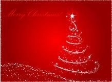 Fundo abstrato vermelho da árvore de Natal ilustração royalty free