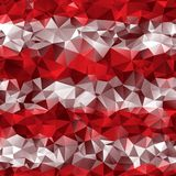 Fundo abstrato vermelho e poli Foto de Stock