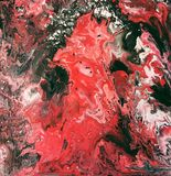 Fundo abstrato vermelho e preto da pintura ilustração stock