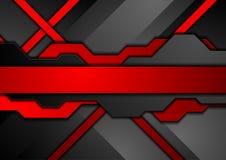 Fundo abstrato vermelho e preto da tecnologia Fotos de Stock Royalty Free