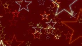 Fundo abstrato vermelho, estrelas, laço ilustração do vetor
