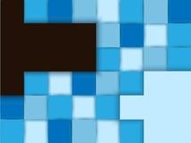 Fundo abstrato, vetor azul do projeto do mosaico Imagem de Stock