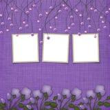 Fundo abstrato violeta com frames ilustração do vetor