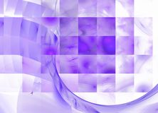 Fundo abstrato violeta e branco Imagens de Stock