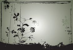 Fundo abstrato w floral ilustração stock