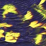 Fundo acrílico abstrato Textura misturada criativa da pintura com lotes amarelos arte original Foto de Stock Royalty Free